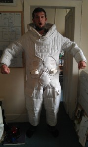 Doctor Gorman from NASA prepares to visit the school